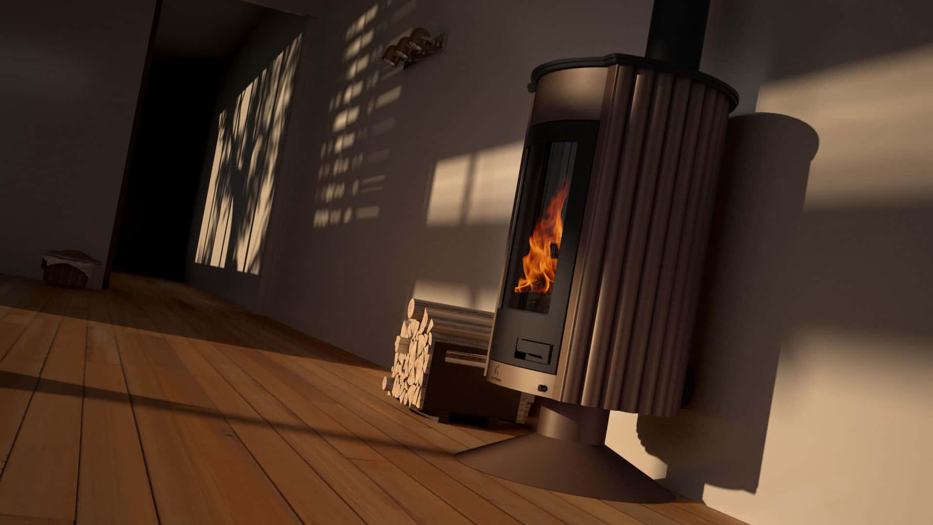 poele a bois masterflamme medie ii marron futur habitat. Black Bedroom Furniture Sets. Home Design Ideas